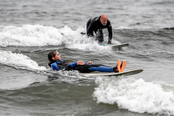 Surfing at Seaton Carew, Hartlepool photo