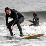 Surfing at Seaton Carew, Hartlepool