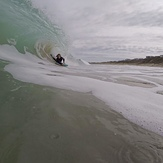 Me getting barreled at boomer beach