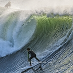 big barrel, Steamer Lane-The Point
