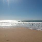 Offshore muy fuerte con 2m., Playa El Palmar