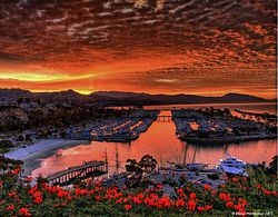Sunrise in Dana Point Harbor photo