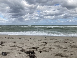 Windy, cloudy, cool, Haulover photo