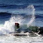 Jaime Noia surfeando en el Luis Aldaco Clasico 2014, 3Ms