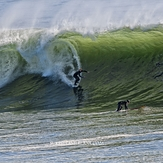 Big barrel surfing, Steamer Lane-Middle Peak