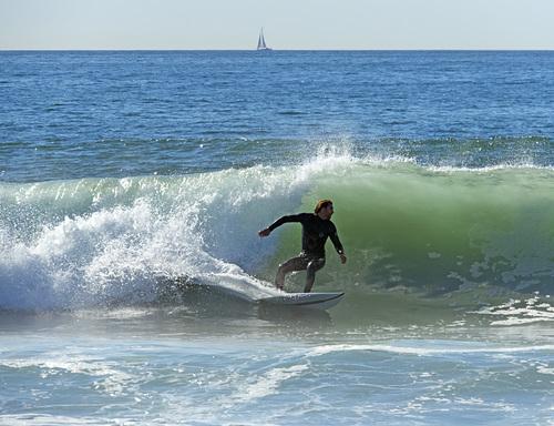 Nice wave!, El Porto Beach