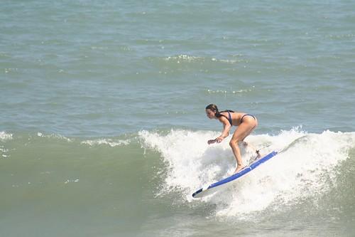 foam board fun, Surf City Pier
