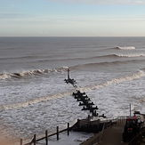Nov 2020 winter swell, East Runton