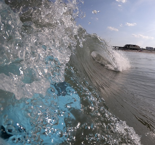 Glassy conditions, Wrightsville Beach