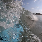 Glassy conditions, Wrightsville Beach