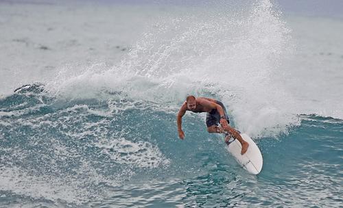 Cool Saturday Surf at Tamarama, Tamarama Reef