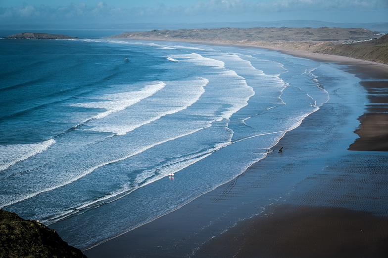 February surf in Rhossili