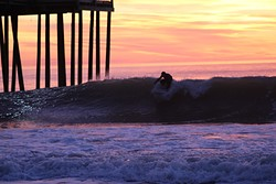 Kyle taking off, The Inlet and Pier photo