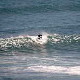 Easterly chop affecting groundswell, Anatori River