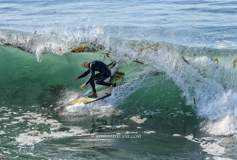 In the barrel, Steamer Lane-The Point