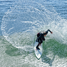 Nice top turn, Steamer Lane-The Point