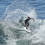 Power top turn, Steamer Lane-The Point