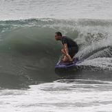 Drop knee at chinchorro beach, El Chinchorro (Red Beach)