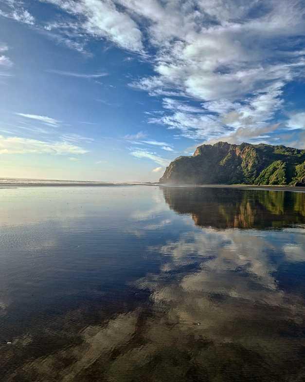 Breathtaking reflection, Karekare