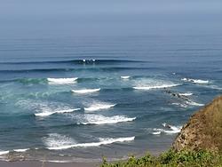 "Set breaking in ""Triangular"" point (right part of Salvaje beach), Barinatxe - La Salvaje photo"