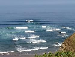 "Surfers going right&left in ""Triangular"" point (right part of Salvaje beach), Barinatxe - La Salvaje photo"