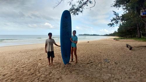 Surf lesson, Kudat (Pantai Kosuhui)