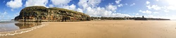 Panoramic view of the Ballybunion cliffs photo