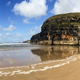 Panoramic view of the Ballybunion cliffs