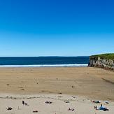 Beachgoers on a summer day, Ballybunion
