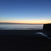 Magnificent silhouetted Ballybunion cliff
