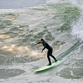 Surfing the Point, Steamer Lane-The Point