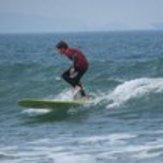 Longboarding at newgale