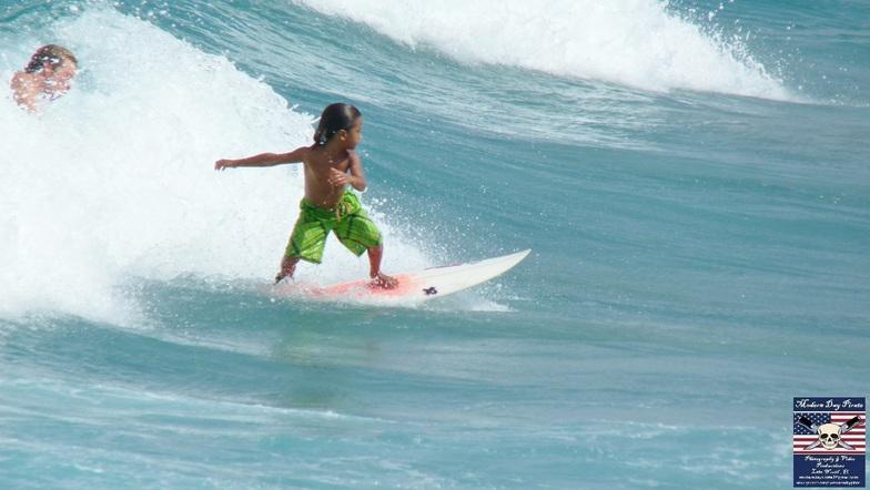 Little Boy Surfing, Lake Worth Pier