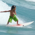 Little Boy Surfing, Lake Worth Pier