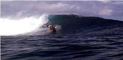 Goofy wave, Namotu Lefts photo