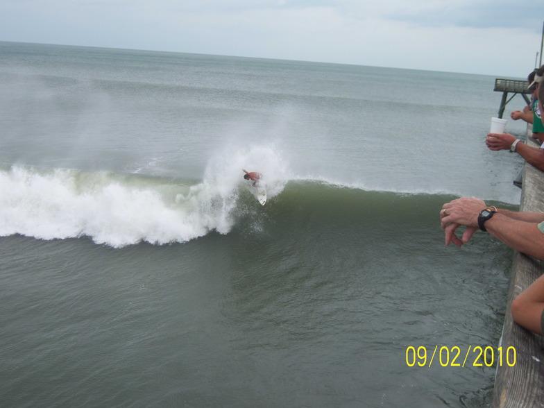 Shane Upchurch off the lip, Long Beach