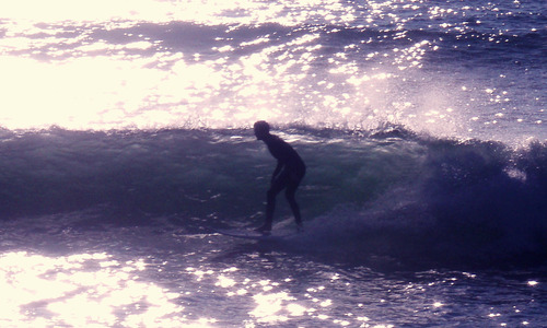 point judith surf session, Lighthouse