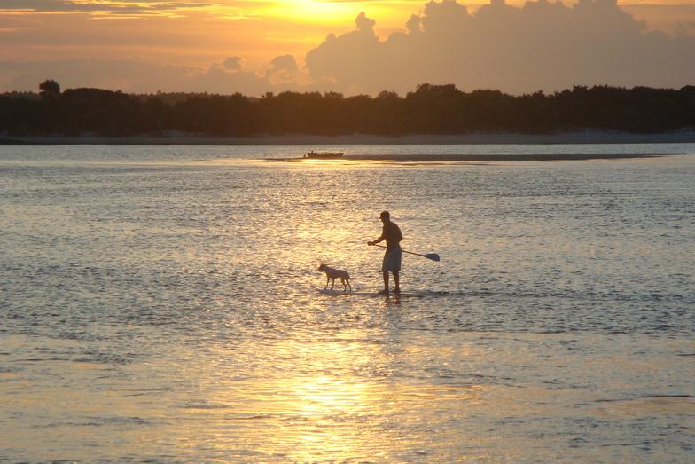 Paddleboarder at Matanzas Inlet Sunset