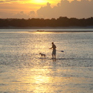 Paddleboarder at Matanzas Inlet Sunset