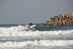 Calla on new board, Alkantstrand photo