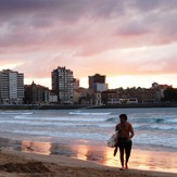 evening surf, Playa de San Lorenzo