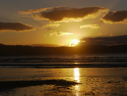 sunset in esteiro beach (galicia), Playa de Esteiro photo
