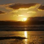 sunset in esteiro beach (galicia), Playa de Esteiro