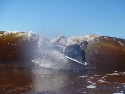bodybarding down the beach, Crescent Head