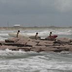 Day after tropical storm Don August 2011, Port Aransas