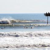 Morning after Hurricane Katia, Nags Head Pier