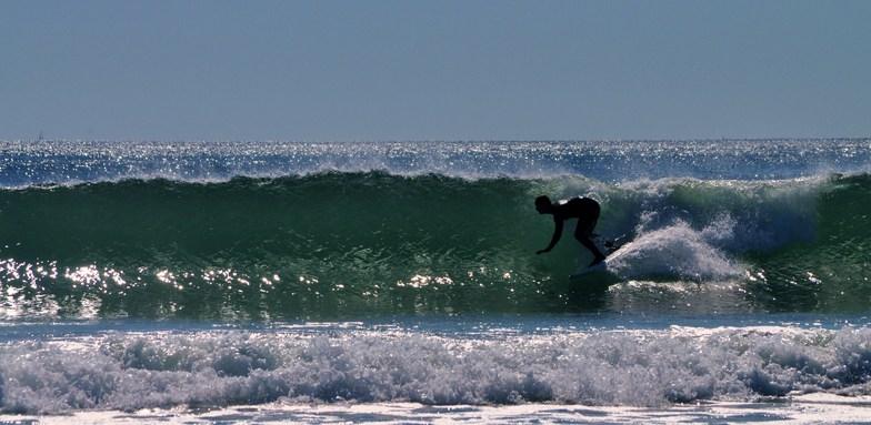 Fall Surfing at Gooch's Beach, Kennebunk Beach