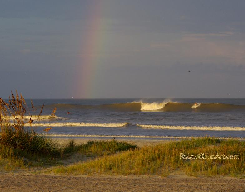 Rainbow Hurricane Katia Saint Augustine Florida St Beach Pier
