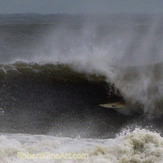 Tube ride - Hurricane Irene swell, St Augustine Beach Pier