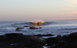 Jose Ignacio, offshore, at sunset photo